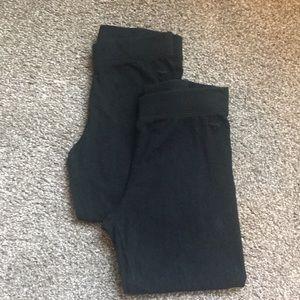 PINK Black Cotton Capris Leggings Bundle XS